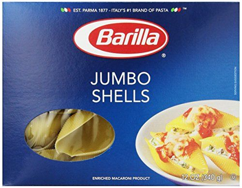 Barilla Jumbo Shells Pasta 12 Ounce * Read more reviews of the product by visiting the link on the image. (Note:Amazon affiliate link)