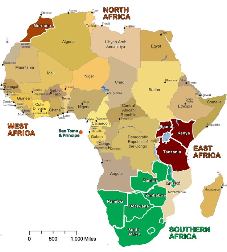 African Countries | Maps of Africa with country links and key attractions