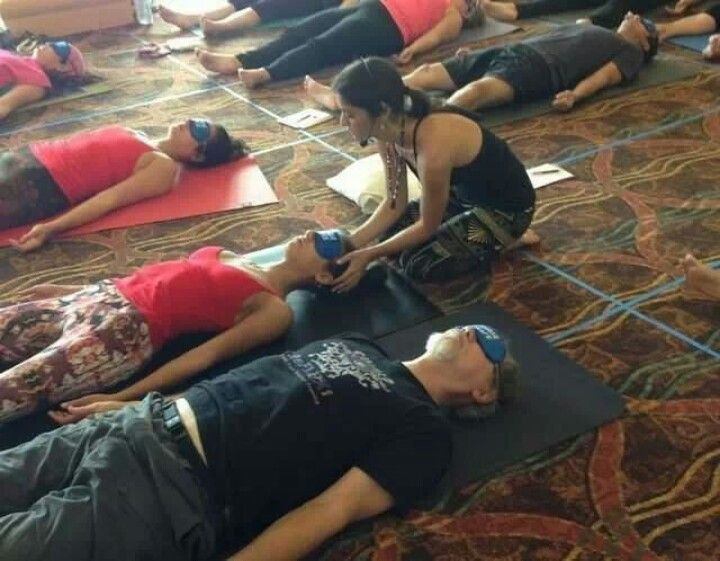 Blindfolded yoga...hmmmm