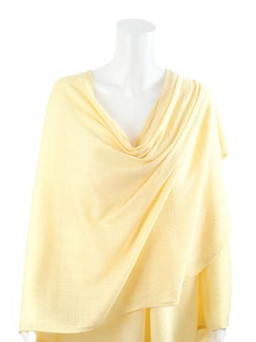 Yellow Textured Knit Nursing Cover