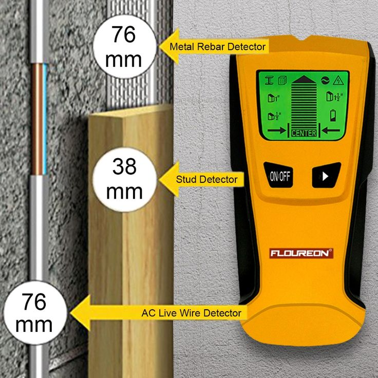 Floureon 3 In 1 Metal Detectors Find Metal Wood Studs AC Voltage Live Wire Detect Wall Scanner Electric Box Finder Wall Detector //Price: $25.64      #sale