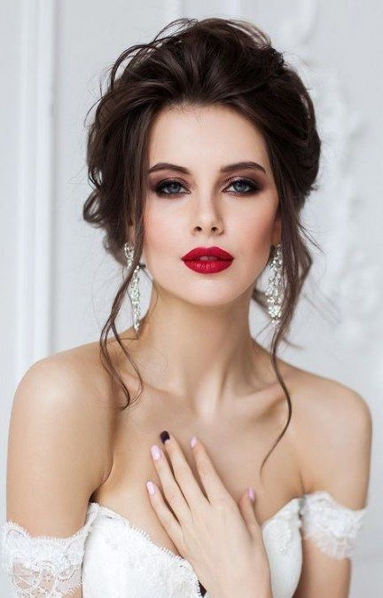 New Wedding Makeup For Brown Eyes Bridal Red Lip 15 Ideas