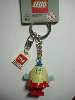 Lego Spongebob Square Pants Mrs. Puff Key Chain by LEGO. $24.48. Features cute puffy Mrs Puff figure from Spongebob Square Pants Series. Recommended for ages 6+. Lego Key Chain with logo 2x2 square tile. Have you earned your boating license yet?   Straight from the undersea world of SpongeBob SquarePants, it's boating instructor Mrs. Puff, ready to guard the keys to your boat'¦and anything else! Includes authentic LEGO minifigure with a sturdy metal chain! Makes a great gi...