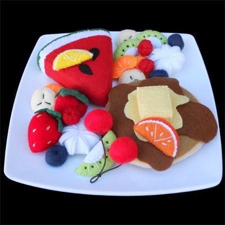 Felt food fruit salad