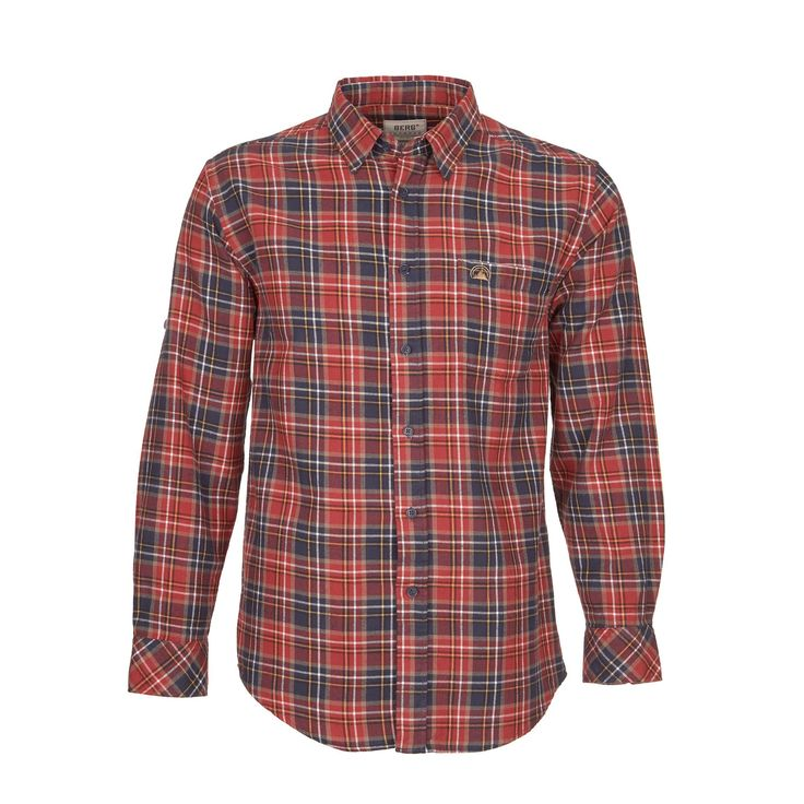 Plaid flannel shirt to complement a casual look on everyday wear.