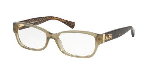 2fc2e14f60ae Coach Eyeglasses HC6078 5395 Olive Dark Tort Gold Sig C 52MM ...