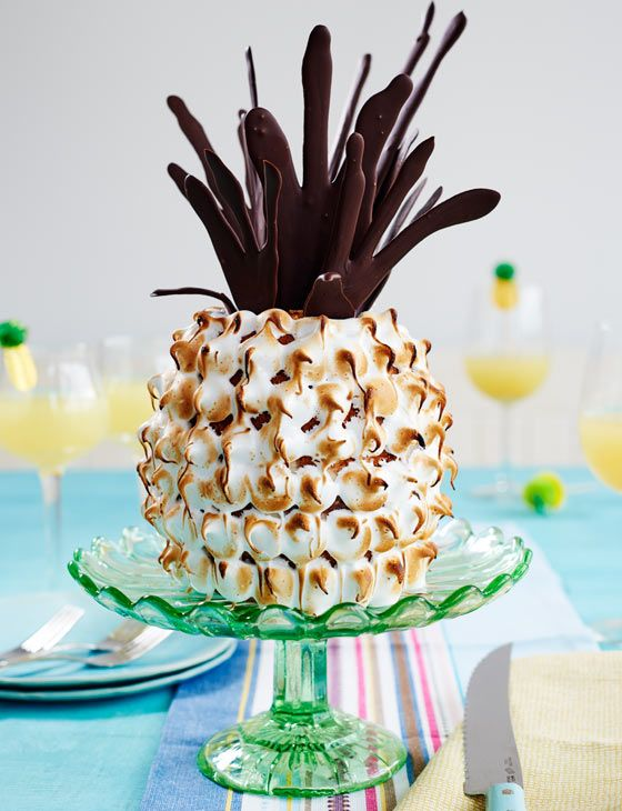 Pineapple and coconut 'pineapple' cake