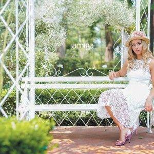 Vestidos de novia para una boda en un jardín. #Wedding #Dresses #Bride #PhotoShoot #WeddingDress