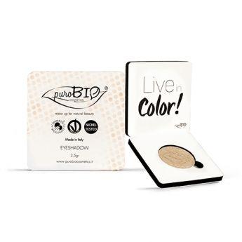 Sombra de ojos en polvo. Color Champán. Fácil de aplicar. Larga duración. Apto para veganos #eco #ecológico #maquillaje #cosmética #ojos #vegano #PuroBio