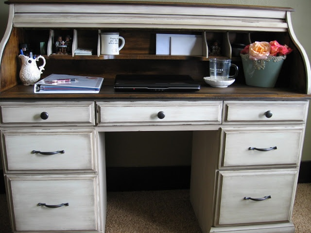 The Uncluttered Lifestyle Roll Top Desk Redo Almost Exactly What I Have Planned For Brought Home Today From My Moms