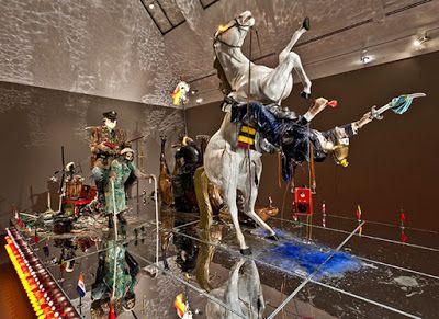 Hard hitting installations by artists Edward and Nancy Kienholz