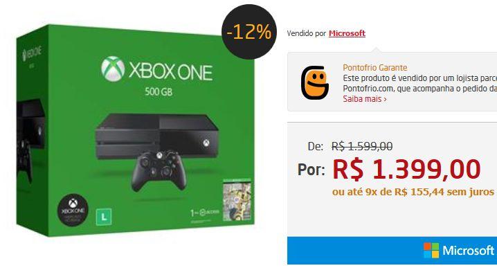 Console Xbox One 500GB  Jogo FIFA 17 (Download via Xbox Live)  1 Mês de EA Access << R$ 139900 em 9 vezes >>