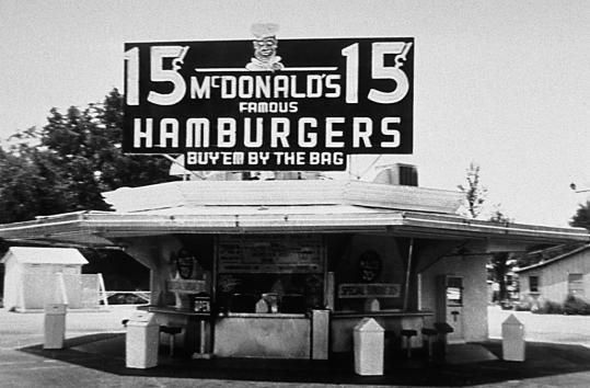Why were the owners of a single San Bernardino California drive-in ordering so many milkshake makers for him? Ray Kroc, 52, flew out in 1954 to learn that the McDonald brothers - Richard, 45, and Maurice, 52 - were franchising their innovative fast-food techniques. An impressed Kroc bought in and later paid the burger kings $2.7 million for all rights.