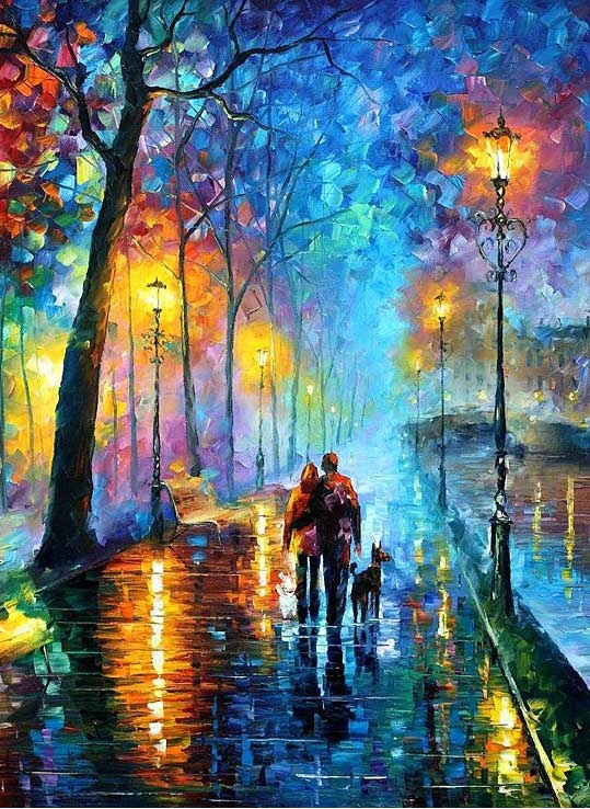 Leonid Afremov. I can't get over the reflections and ...