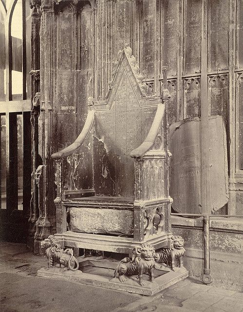 Coronation Chair with Stone of Scone, Westminster Abbey,1875:  (the stone has been returned to Scotland, but I saw it in London. VERY potent piece of history!!!)