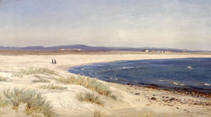 Amaldus Nielsen - Mennesker på en strand (1894) - Amaldus Nielsen - Wikipedia, the free encyclopedia
