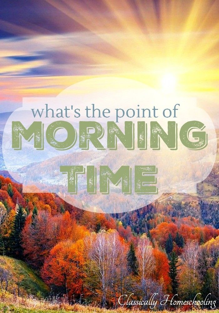 Everyone talks about adding a morning time to your homeschool day. A morning time where you and the children gather together for poetry, memorization, music, and great literature.
