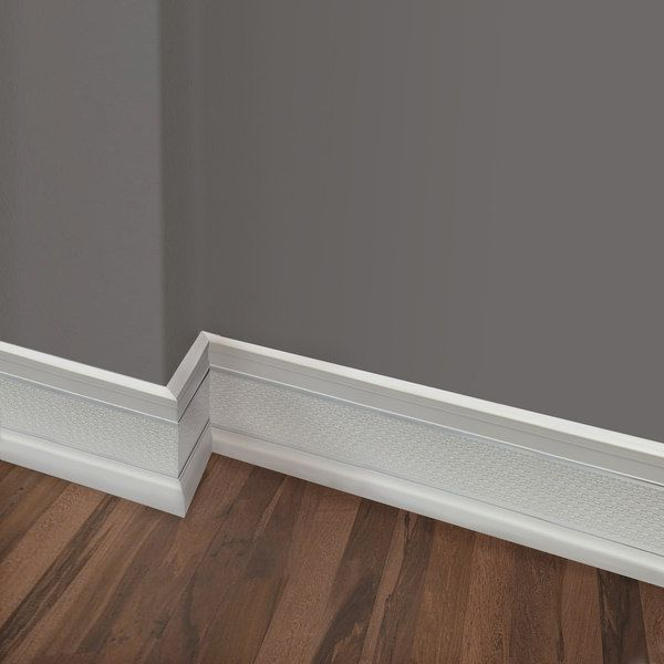 Upscale Designs 72 Inch Polystyrene White With Silver Trim