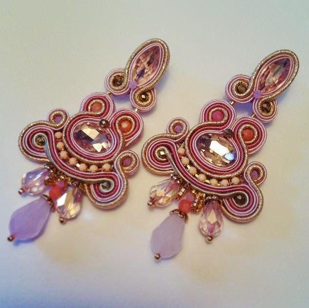 Adel's Laboratory: rose tea earrings