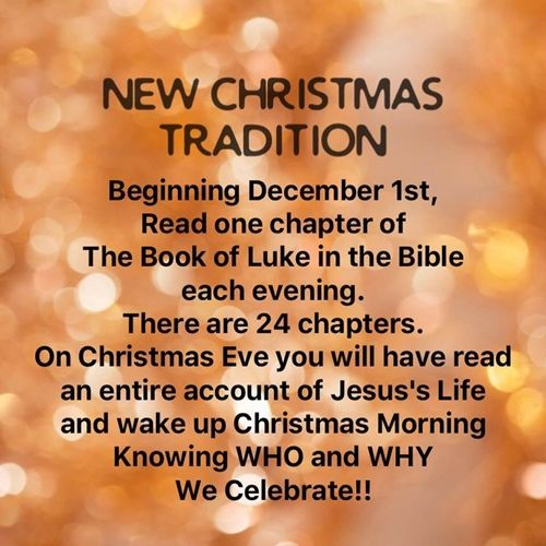 df8101ad6bed41777b9a0905e4b7c1a6 - New Christmas Tradition - Bible Study