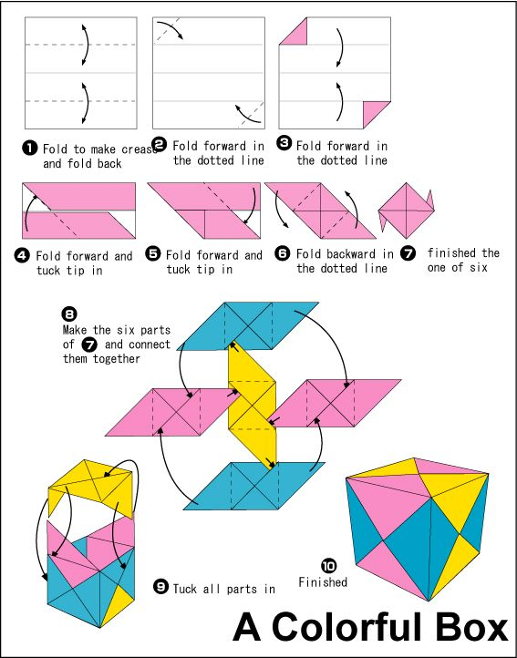 paper crafts for easter: origami bunny cubes tutorial - crafts ... | 722x567