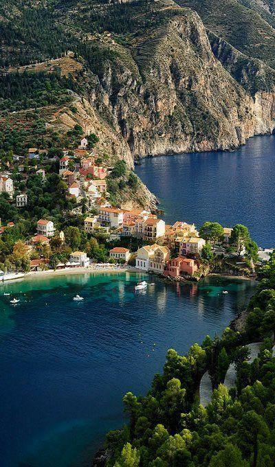 Assos, traditional village in Kefalonia island, Greece.
