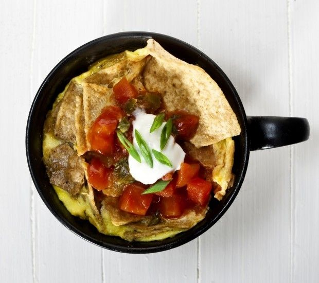 Tons of Coffee Cup recipes!!  So quick and easy and perfectly portion controlled.  AND no cleanup!!!  Here's one: Coffee Cup Chilaquiles