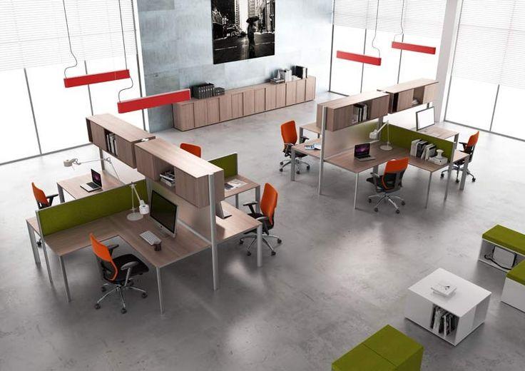 office, workstation, desk, partition
