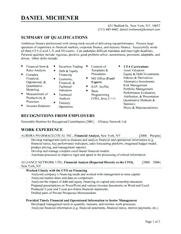 Example Of Resume Title Sample Titles Best
