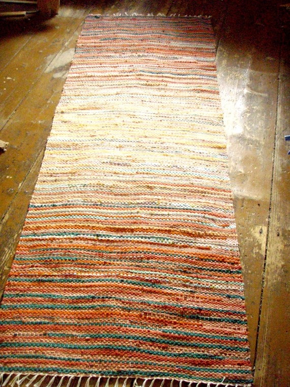 Handwoven rag rug - precisely why I am unable to part with fabric scraps....
