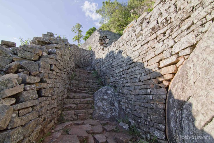 The monument of Great Zimbabwe is the most famous stone building in southern Africa.