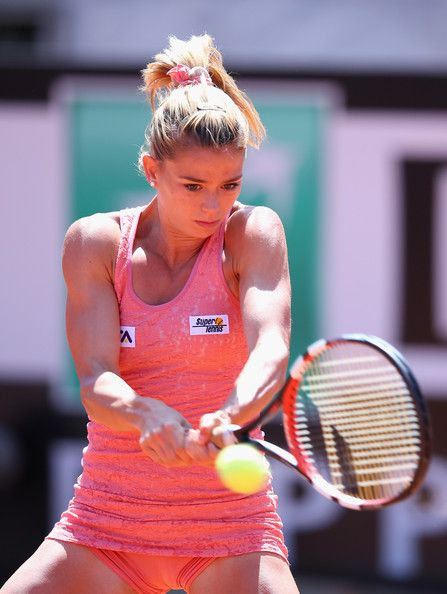 Camila Giorgi of Italy in action against Christina McHale of USA during the Internazionali BNL d'Italia tennis 2014