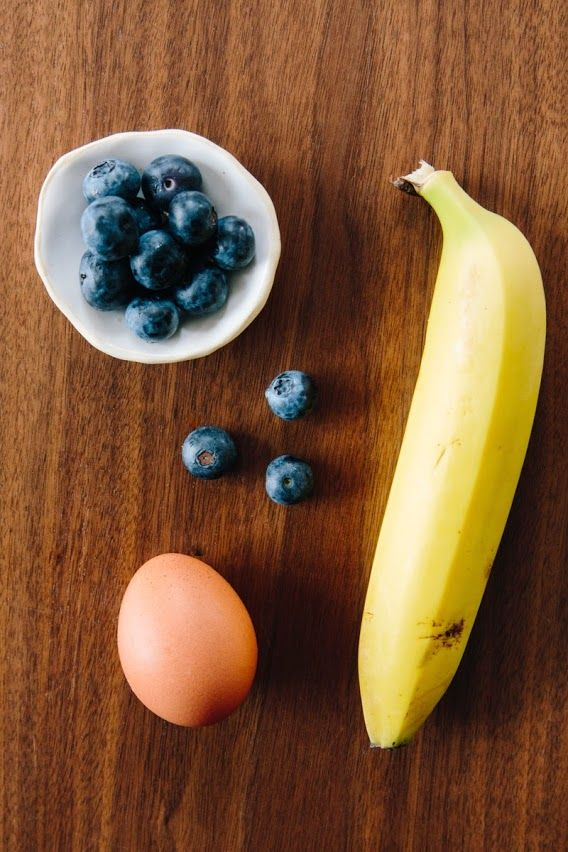 A CUP OF JO: Two-ingredient pancakes (blueberries optional:)