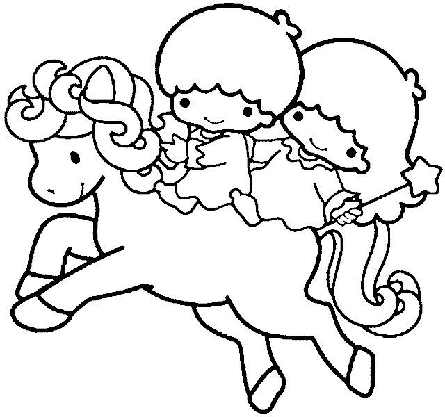 Kikilala colouring kikilala little twin star pinterest for Little twin stars coloring pages