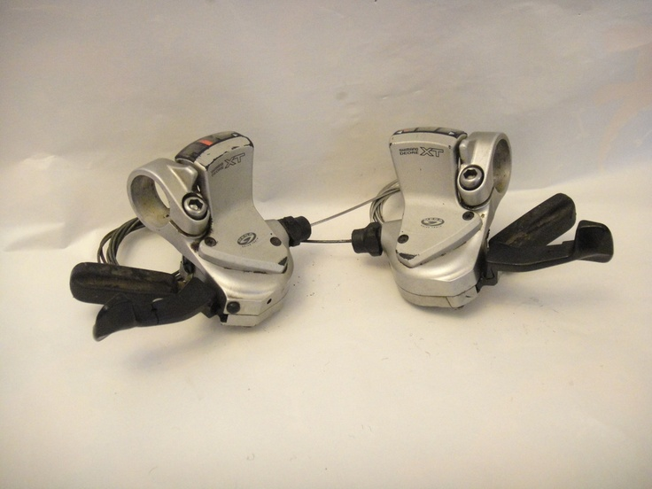 #Deore XT SL-M750 9 speed shifters retro mountain bike part - All Things Bikes Like, Repin, Share, Follow Me! Thanks!