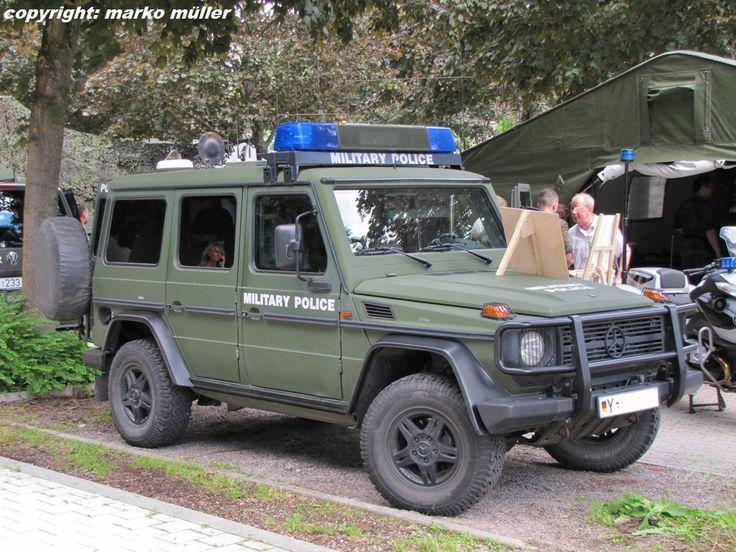 Mercedes Benz G-Modell Einsatzfahrzeug der Feldjäger/Militärpolizei der Bundeswehr mit dem Schriftzug MILITARY POLICE für Feldjägerfahrzeuge in den Auslandsmissionen der Bundeswehr.