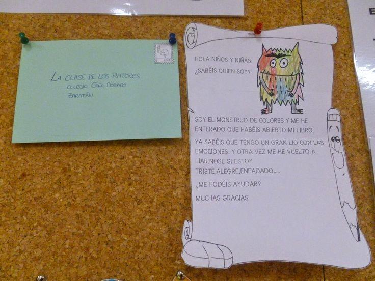 """Como ya os dijimos anteriormente, un día leímos el cuento de """"El monstruo de colores"""". Pues bien, hace tres semanas recibimos una carta en ..."""