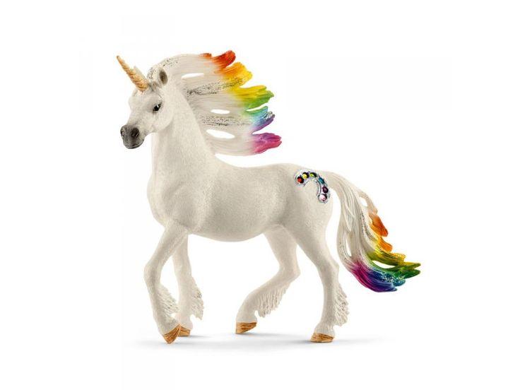 Schleich - Licorne arc-en-ciel, mâle - 8,5 cm x 15 cm x 18 cm #schleich #figurinelicorne #arcenciel #cadeauxnoel #licorne