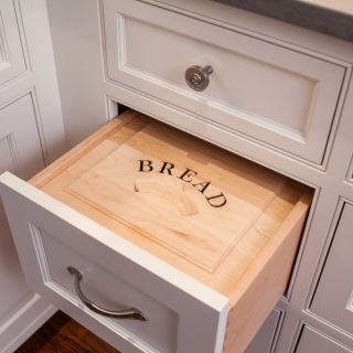 Perfect Hidden Bread Box Kitchen Drawer I NEED One Of These.