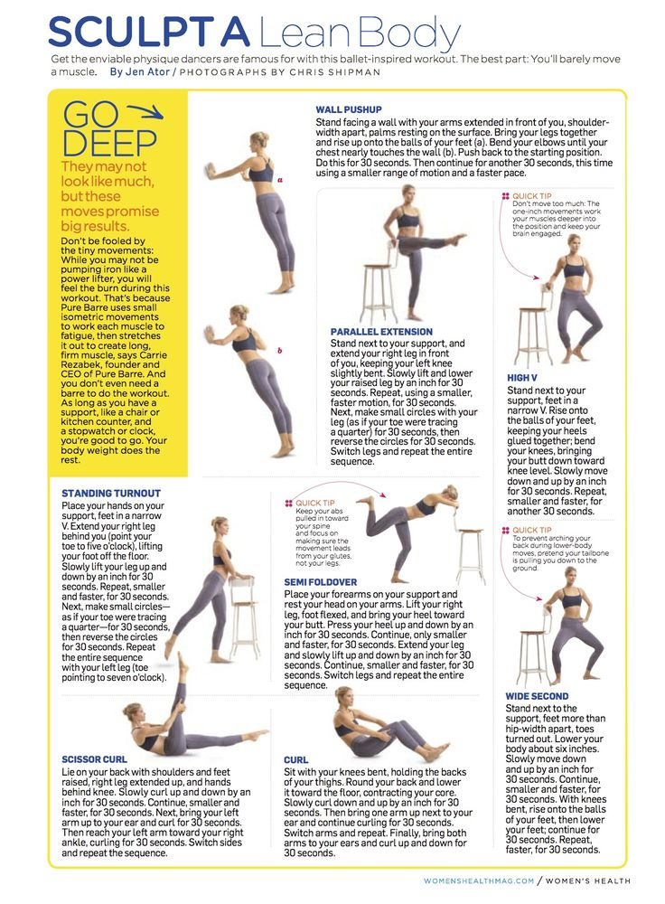 Sculpt a Lean Body: Get the enviable physique dancers are famous for with this body shaping workout.