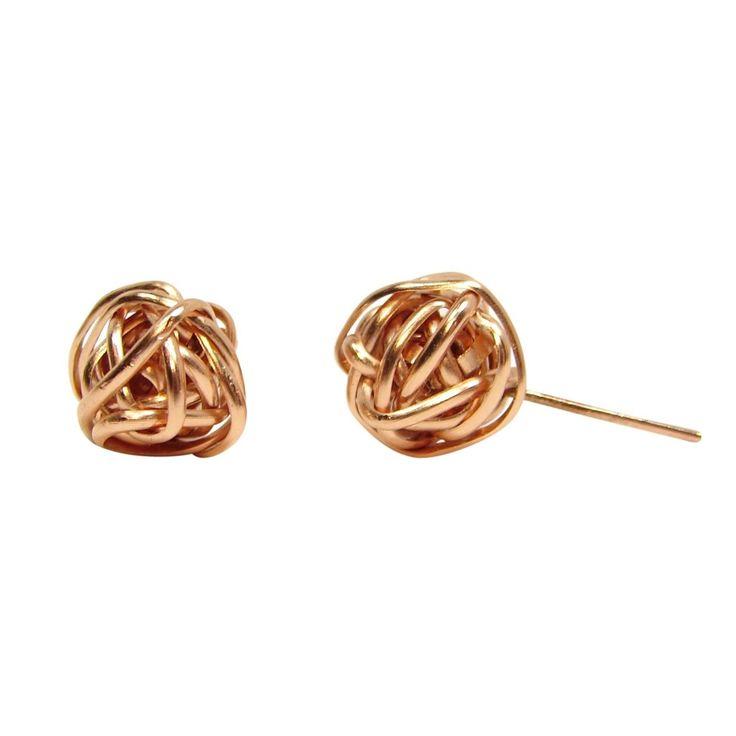 Rose Gold Fill Twist Studs
