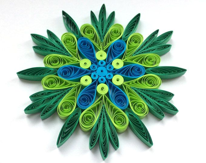 Quilled Snowflakes Paper Quilling Art Christmas Tree Decor Winter Hanging Orname...