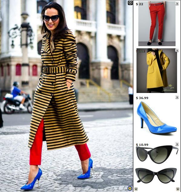 Street Style Fashion - Shop matching products in this pic at http://www.stylediggin.com/the-ocher-burberry/