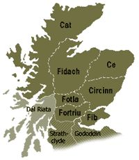 7 Ancient Kingdoms of Scotland | pictland or pictavia comprised all of modern scotland north of the ...Murchisons, descended from Dal Rita.