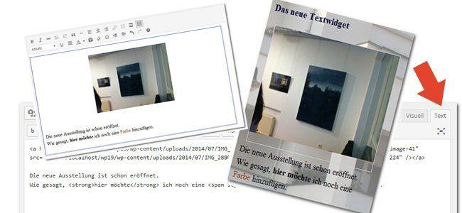 Bilder einfügen mit dem WordPress TextWidget
