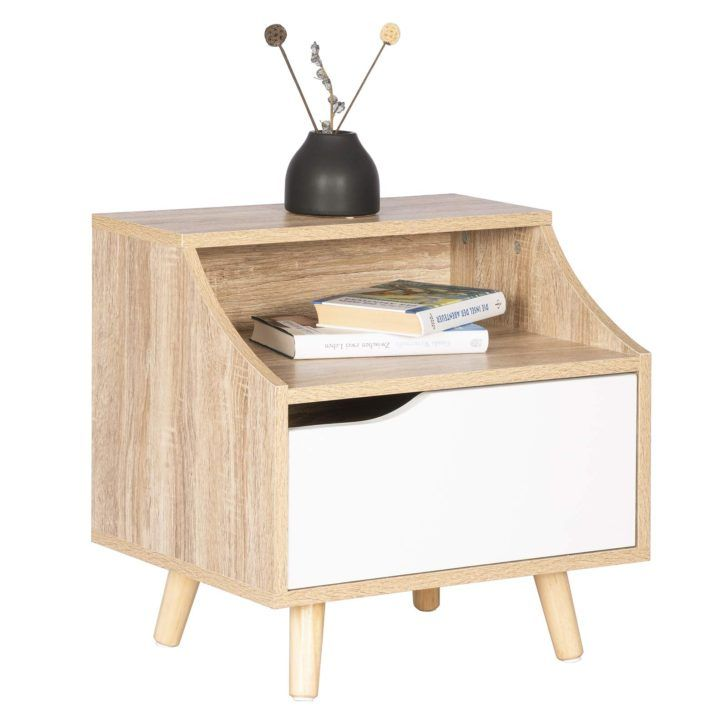 Interior Design Table De Nuit Woltu Tsr56hei Table Chevet En Bois Nuit Basse Avec Tiroir Et Compartiment Ou Canape Angle Grand Canape Transformation De Meubles