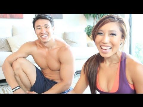 6 pack ab workout with Mike Chang of Six Pack Shortcuts and Cassey Ho of Blogilates