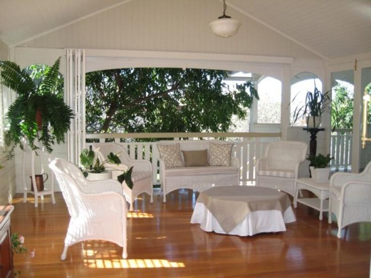 Wide timber deck on Qldér home