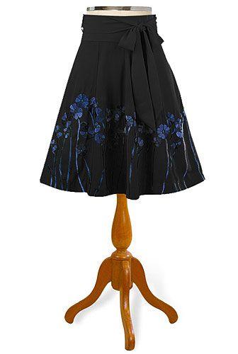 eShakti embellished florals flared skirt - Skirt.. or the dress. Wow.. both? Yes, I think so!