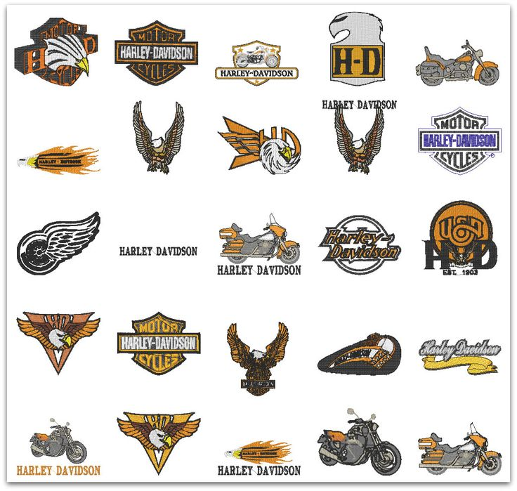 Harley davidson embroidery designs